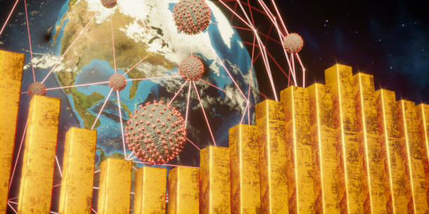 Economic Crisis Due To Pandemic stock photo