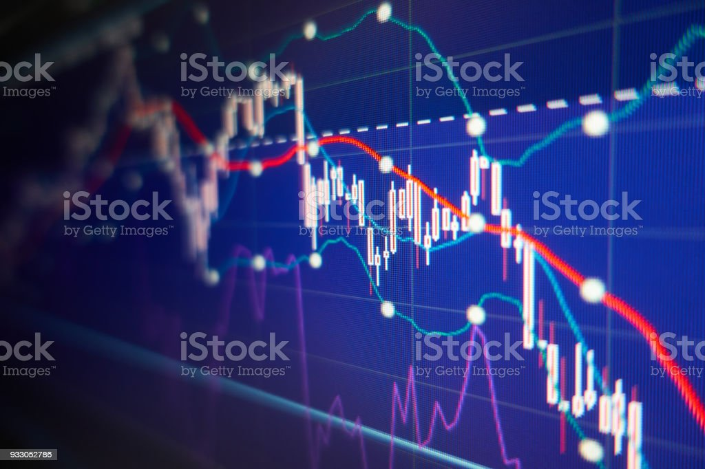 Economic crisis - Financial and business background stock photo