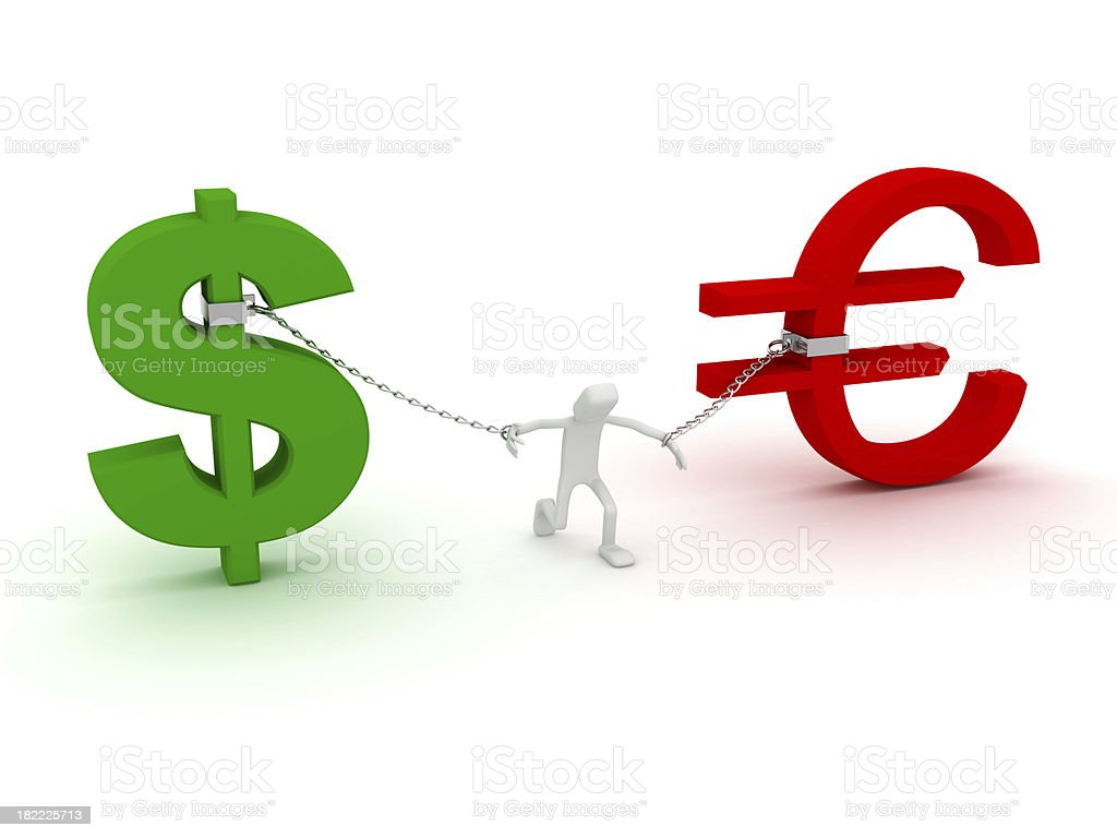 Economic dependence royalty-free stock photo