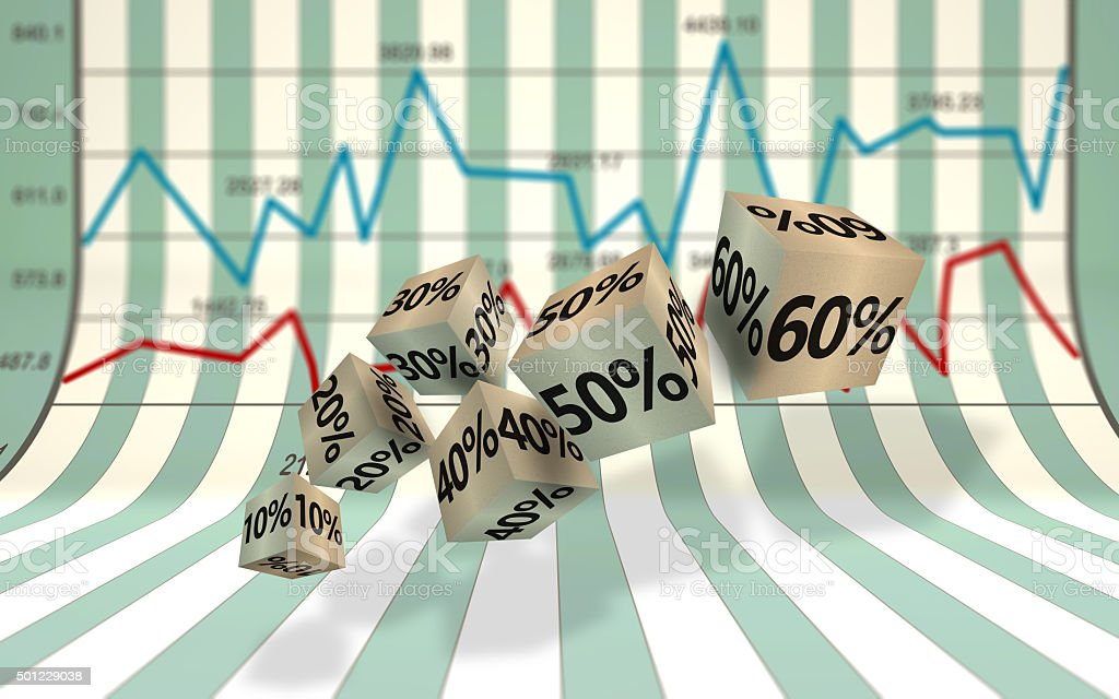 Economic development chart stock photo