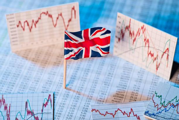 Economic development in Great Britain stock photo
