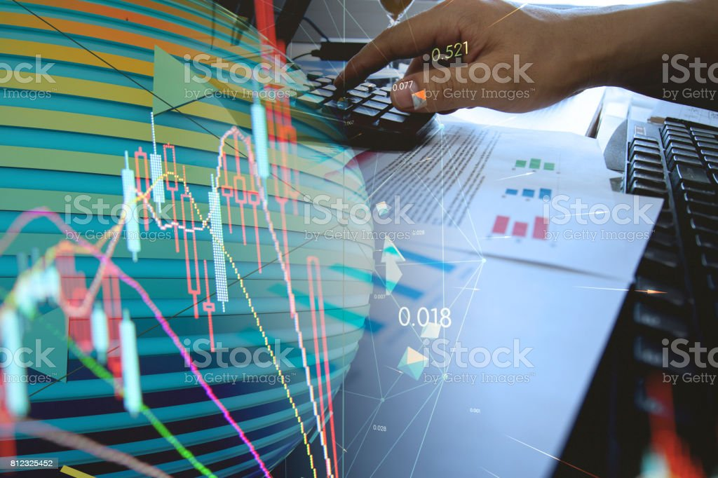 Synthetic picture, on behalf of technology development, stock market...