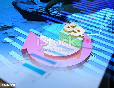 istock Economic development, stock market data, success arrows 812327968