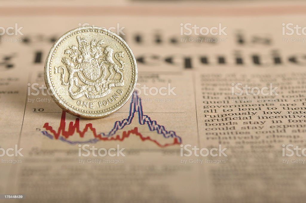 Economic down turn stock photo