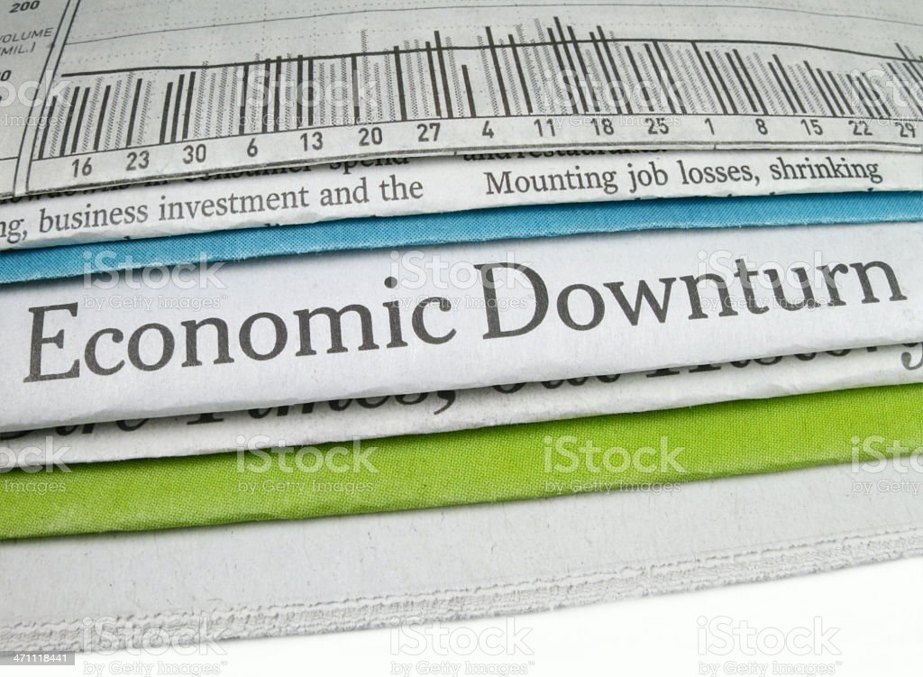 Economic Downturn royalty-free stock photo