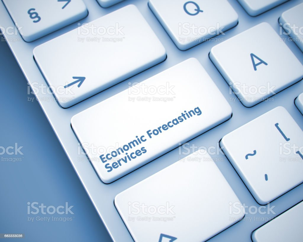 Economic Forecasting Services - Message on  Keyboard Keypad. 3 royalty-free stock photo