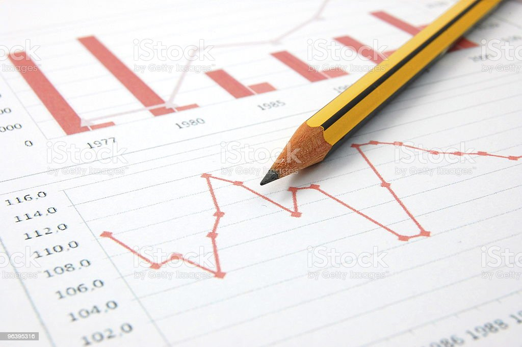 economic graph - Royalty-free Banking Stock Photo