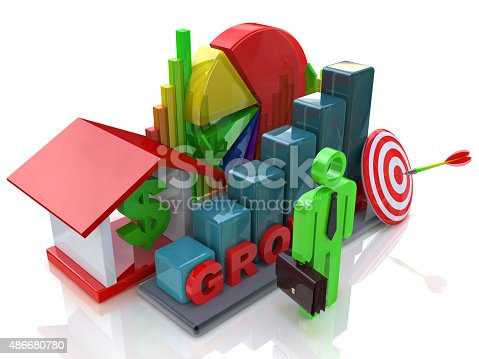 istock Economic growth in the business scene 486680780