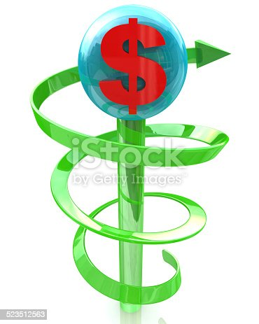 93070459 istock photo economic growth of the dollar 523512563