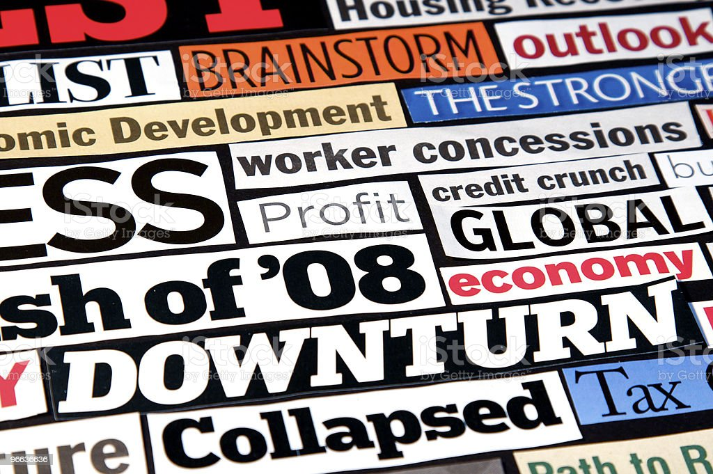 Economic Headlines royalty-free stock photo