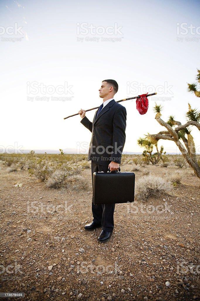 Economic Hobo royalty-free stock photo