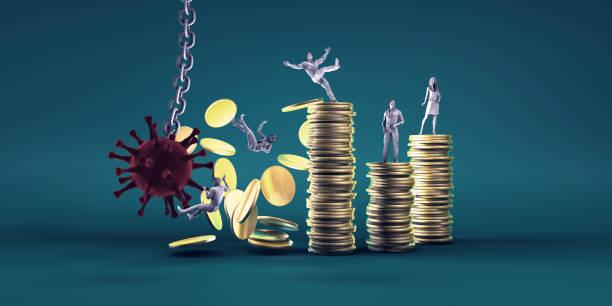 Economic Impact of The Coronavirus stock photo
