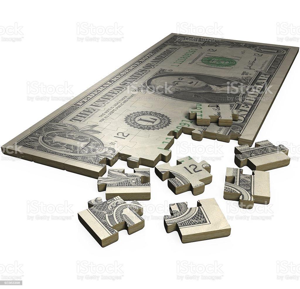 Economic Puzzle royalty-free stock photo