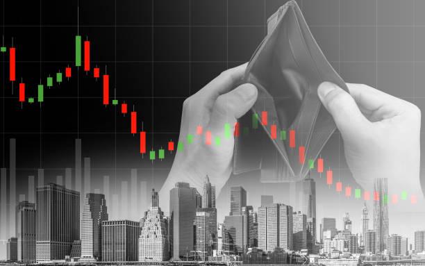 Economic recession crisis and people no money stock photo