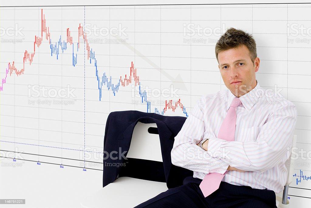 Economic recession royalty-free stock photo