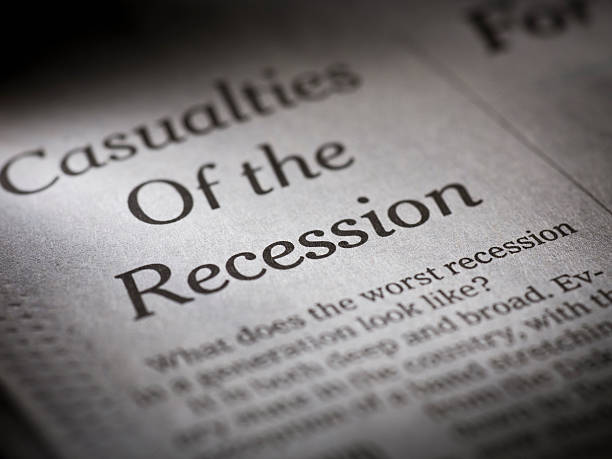 wirtschaftlicher rezession - börsencrash stock-fotos und bilder