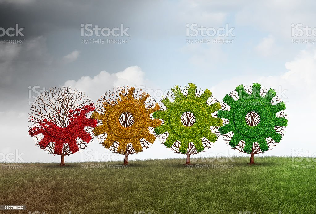 Economic Recovery Concept stock photo