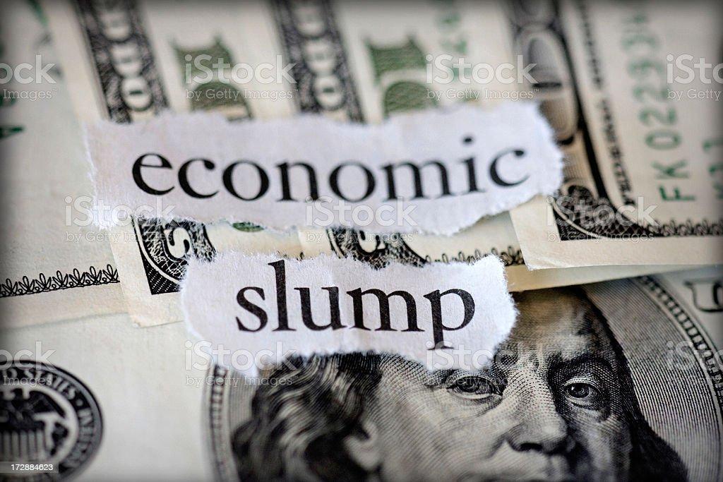 economic slump royalty-free stock photo
