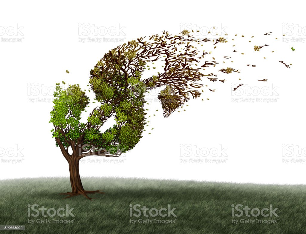 Economic Turbulence stock photo