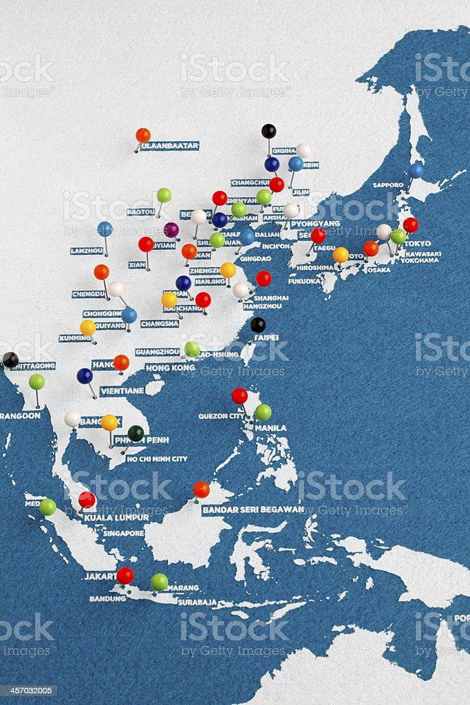 Economic zone of Asia stock photo