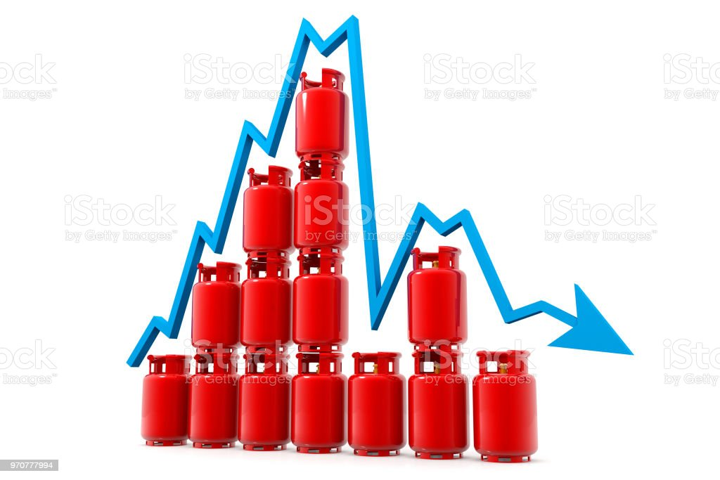 Economical gas price chart stock photo