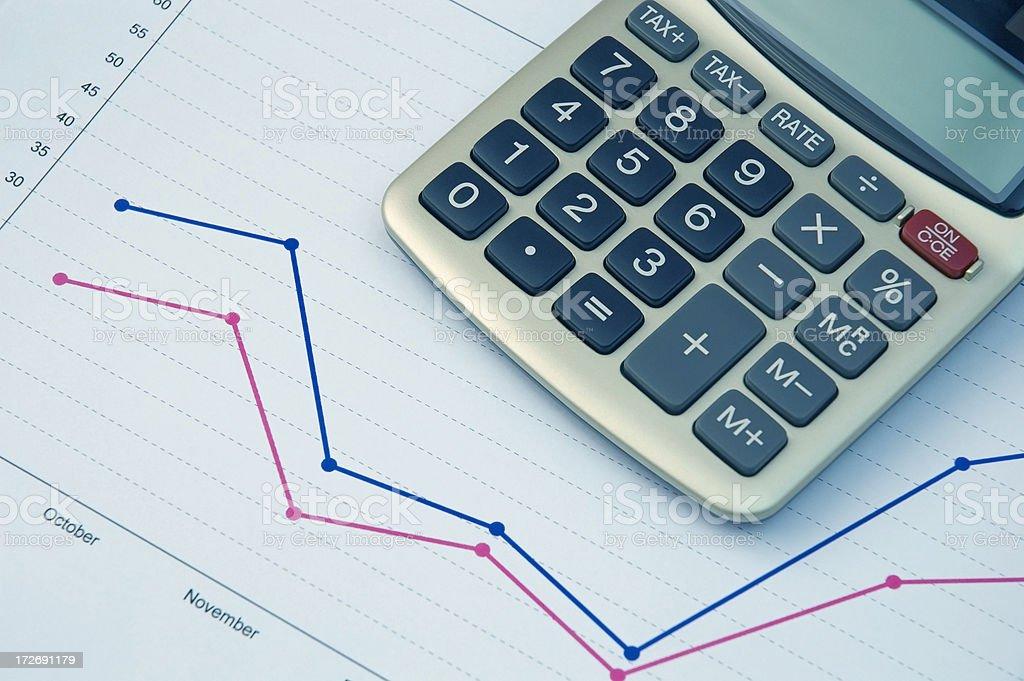 Economical Graph royalty-free stock photo