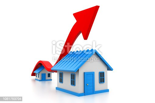 istock Economical home sale graph 1051753704