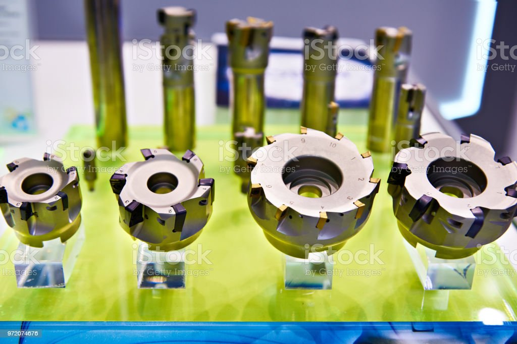 Economical milling cutters stock photo