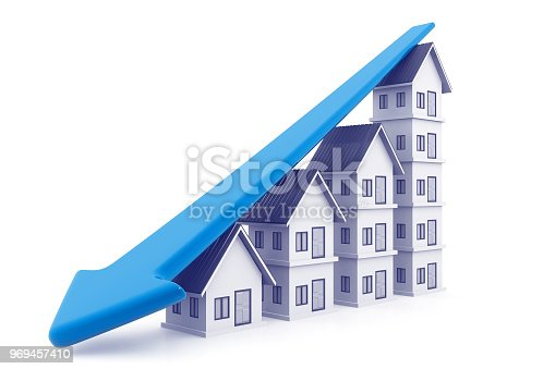 istock Economical Real estate chart 969457410
