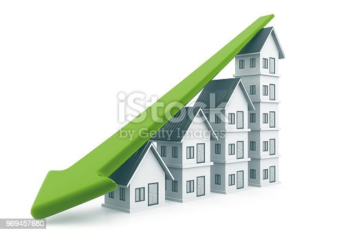 istock Economical Real estate chart 969457680