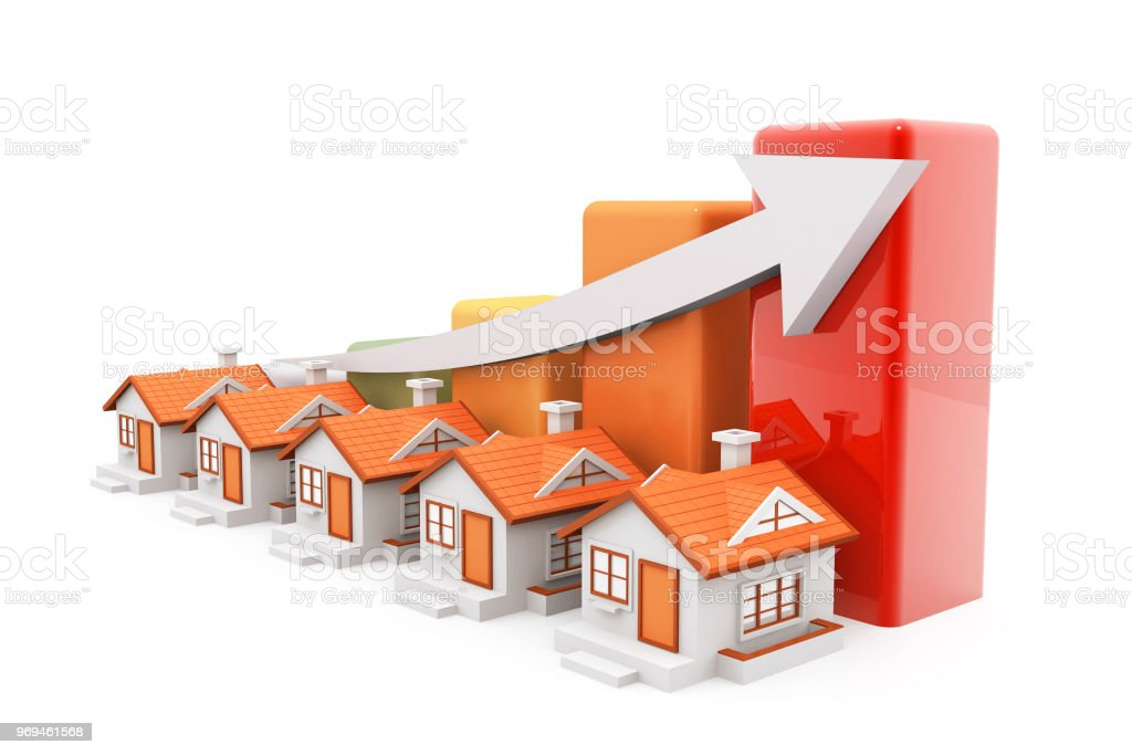 Economical Real estate chart stock photo