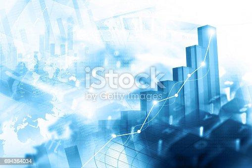 istock Economical stock market graph 694364034