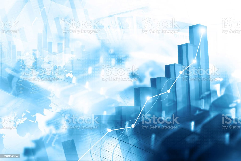 Economical stock market graph stock photo