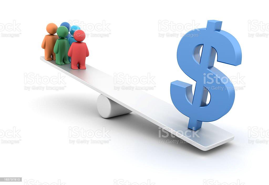 Economy Balance royalty-free stock photo