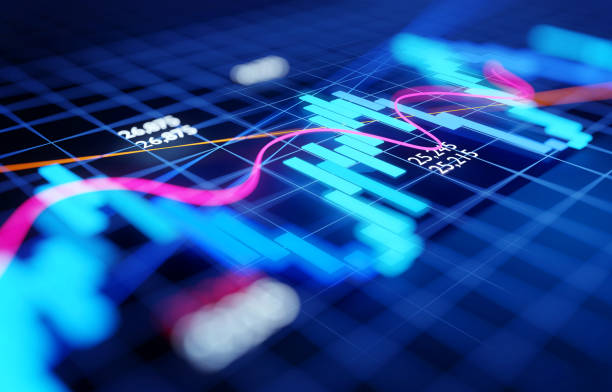 Economy Business and Investment Stock Chart stock photo