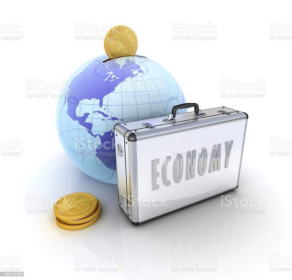 Economy Class Flight royalty-free stock photo