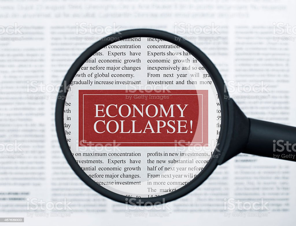 Economy Collapse Stock Photo - Download Image Now