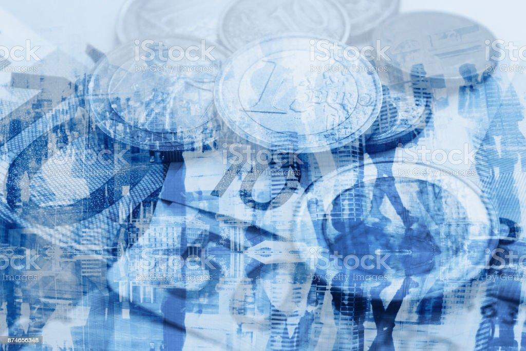 GDP economy concept, money stock photo