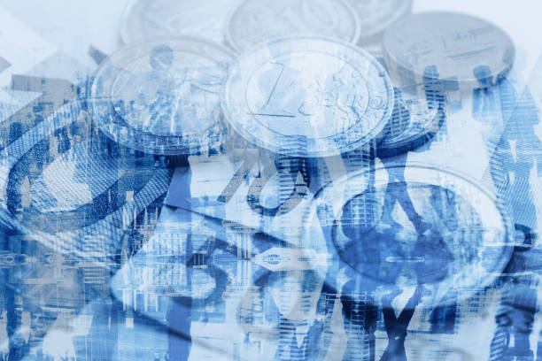 bip-wirtschaft-konzept, geld - eurozahlen stock-fotos und bilder