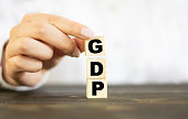 istock Economy concepts with GDP growing.Business financial and investment planning.government management on crisis situation.vision to success 1263674228