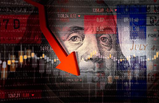 Stock Market Data, Stock Market and Exchange, Stock Market Crash, Dollar Sign, Moving Down