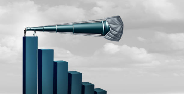 Economy Decline Forecast Challenge stock photo