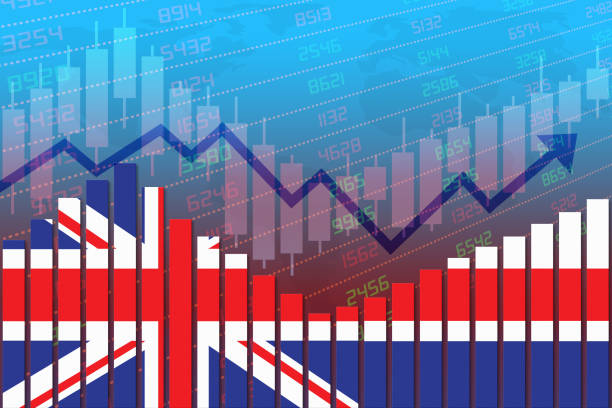UK Economy Improves and Returns to Normal After Crisis stock photo