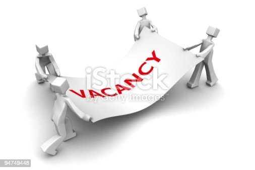 istock Economy recession fight for a job vacancy concept 94749448