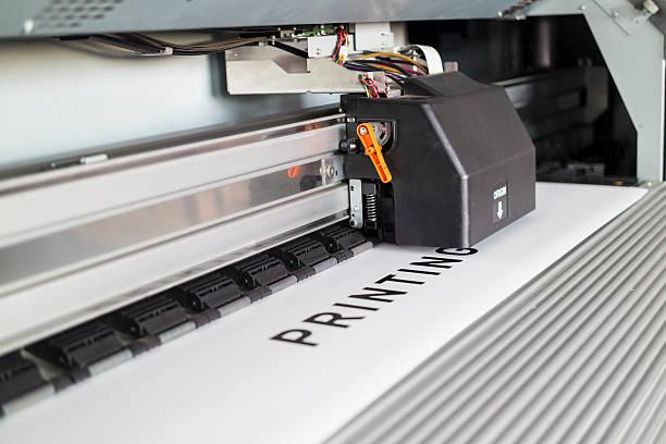 Ecosolvent printer stock photo