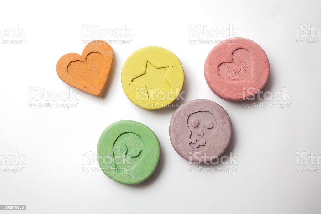 El éxtasis pastillas - foto de stock