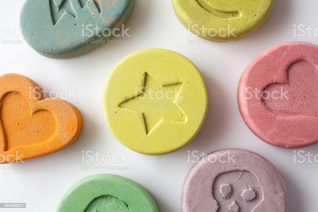 Ecstasy pills stock photo