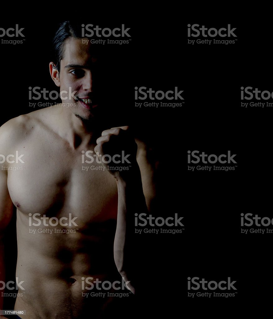 Ecstatic Attractive Male Model royalty-free stock photo