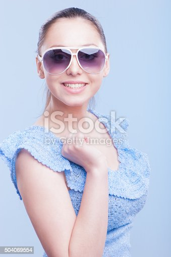 istock Ecstatic beautiful young girl 504069554