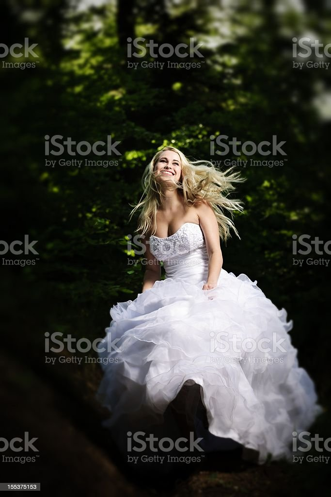 ecstatic bride royalty-free stock photo
